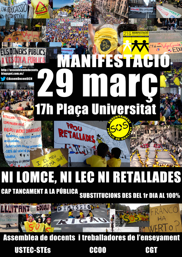 Cartell manifestació 29 març